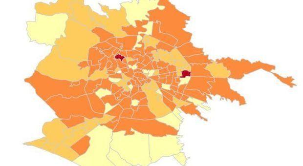 Roma, la mappa del contagio: boom di positivi sulla Cassia, pochissimi casi all'Eur