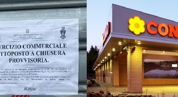 Cassiera a 80 cm dal cliente invece di un metro: supermercato chiuso per 5 giorni