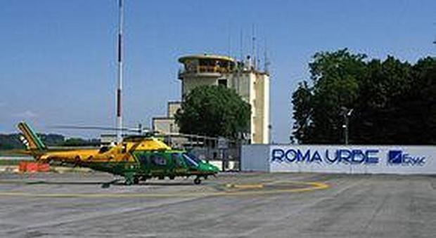 Roma Ultraleggero Sorvola La Città Elicottero In Volo Per
