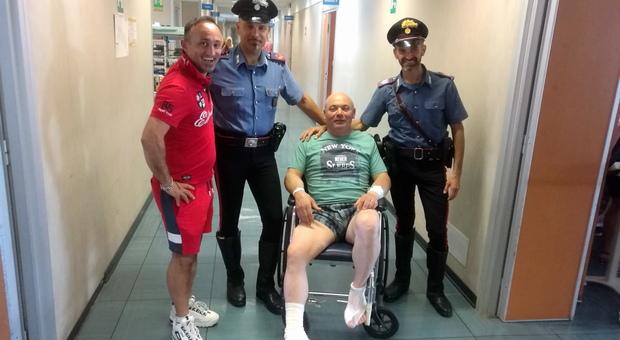 Il carabinieri ferito