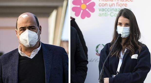 Claudia Alivernini e le minacce choc alla prima vaccinata. Zingaretti: «Attacchi vergognosi»