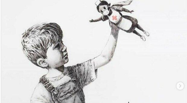 Banksy da record, quasi 20 milioni all'asta per la super infermiera anti-Covid