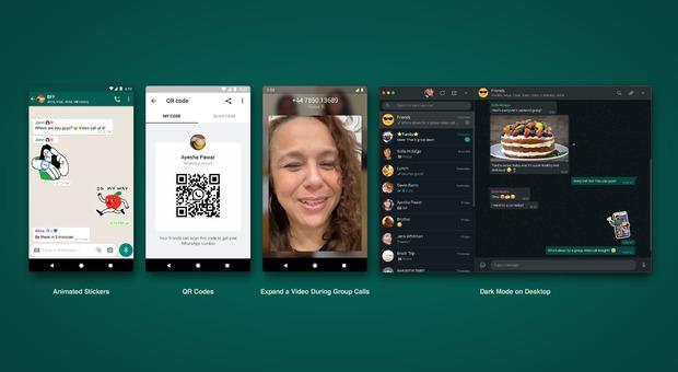 WhatsApp, novità in arrivo: sticker animati, codici QR e altre funzioni