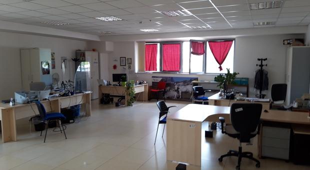 Gli uffici vuoti della Regione, a Frosinone