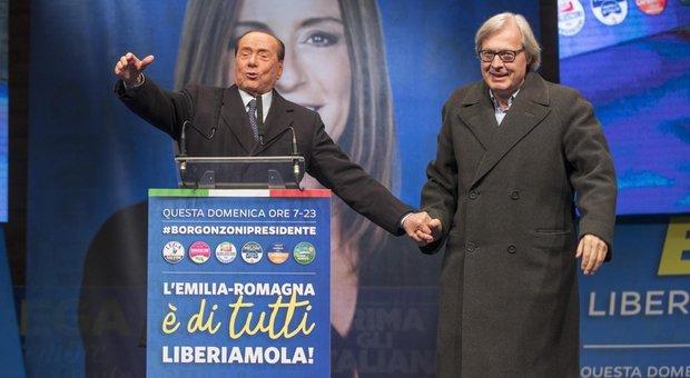 Forza Italia, bene in Calabria, male in Emilia: Sgarbi unico consigliere eletto
