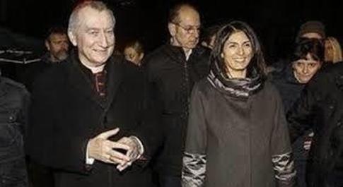 Virginia Raggi a colloquio con il cardinale Parolin, l'emergenza del coronavirus preoccupa tutti