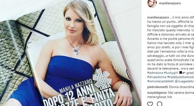 Manila Nazzaro matrimonio finito dopo 12 anni