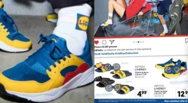 Lidl, scarpe e ciabatte esaurite: ressa per compare i capi con il logo. Sul web rivendute a 250 euro