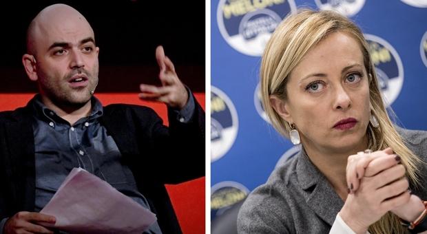 Giorgia Meloni perde le staffe in tv: «Saviano dice che la seconda ondata è colpa mia? Portatemelo qui»