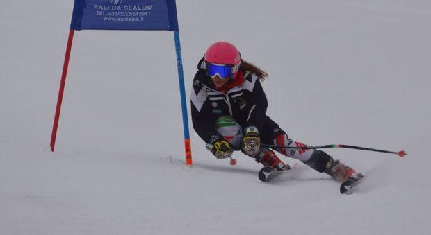 La campionessa regionale Giorgia Tari in azione