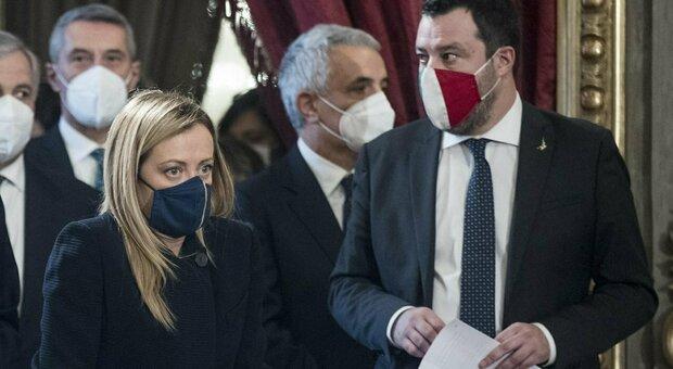 Crisi di goveno, Salvini: «Elezioni via maestra». Meloni: «La crisi si poteva evitare»