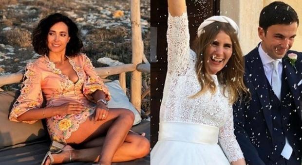 Caterina Balivo al matrimonio della sorella a Favignana: critiche per l'abito «troppo corto»