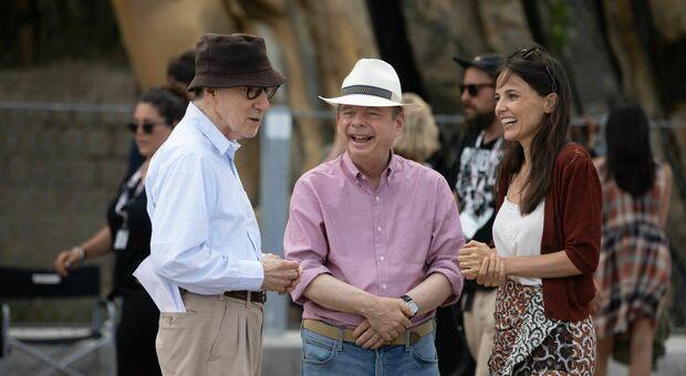 """Woody Allen sul set di """"Rifkin's Festival"""""""