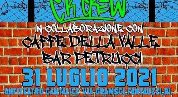 Tutto pronto per l'evento hip-hop al bivio di Cantalice: skate, graffiti e musica