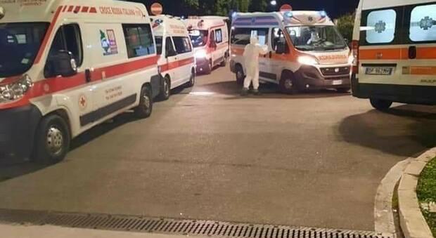 A Terni l'ambulanza arriva da Fabro per trasportare un paziente dall'ospedale alla casa di cura