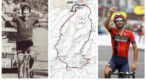 Ciclismo Mondiali: percorso di Imola da Nibali al Drake, dai longobardi alla bella Lola, da Adorni a Capirossi, da Pantani alla Linea Gotica