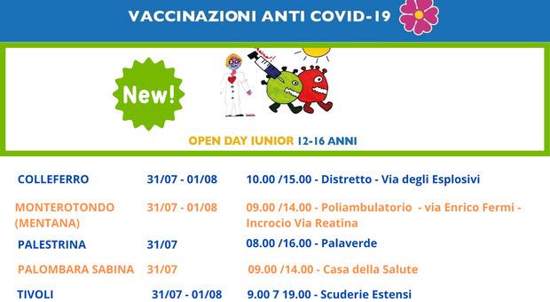 Moderna Lazio, nuovo Junior Open Day (12-16 anni) nel weekend e senza bisogno di prenotazione