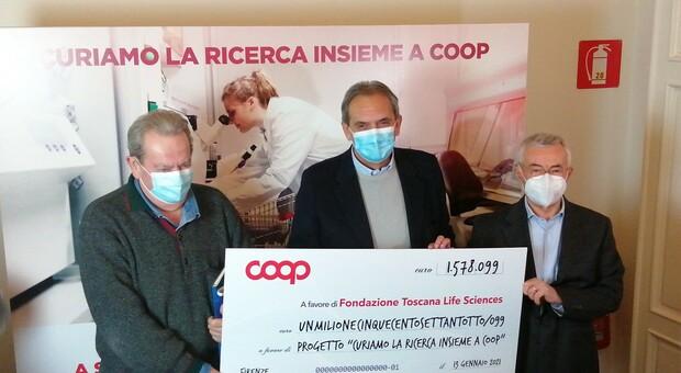"""""""Sosteniamo la ricerca"""" traguardo della Coop con oltre  un milione e mezzo di euro e 151 mila donazioni"""