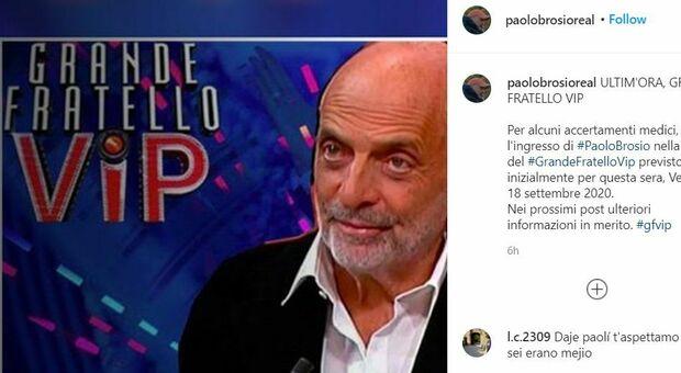 Paolo Brosio, ansia al GfVip: in ospedale per «accertamenti», non entra nella casa
