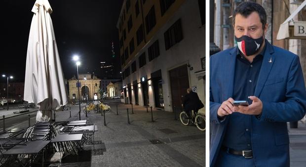 Salvini lancia il sito no coprifuoco : «Le aperture da lunedì non bastano, fiducia agli italiani»