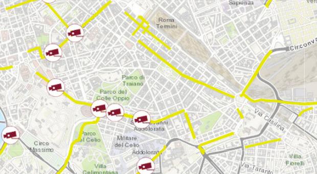 Roma, telecamere lungo le preferenziali: le nuove vie sorvegliate dagli occhi elettronici