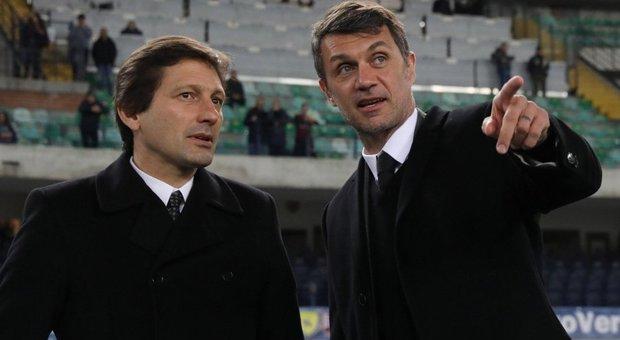 Leonardo e Maldini a Milanello