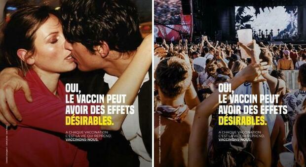 Vaccini, manifesti francesi con baci, vacanze e balli: «Possono avere effetti desiderabili»