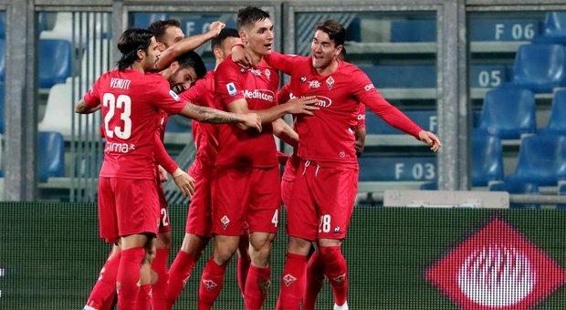 La Fiorentina rincorre l'Europa, 2-1 al Sassuolo con Castrovilli e Milenkovic