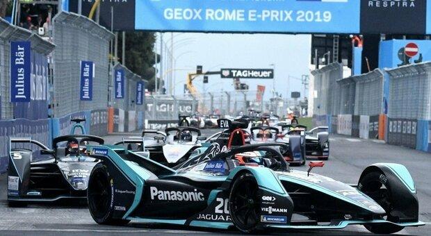 La Jaguar di Formula E nell'ultimo E-Prix di Roma