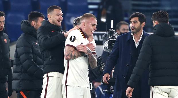 Fonseca: «Io in futuro alla Roma? Non lo so». Dzeko: «Per me conta la squadra non la fascia»