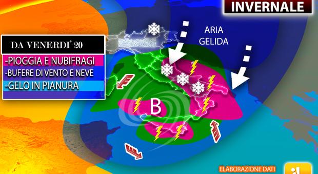 Meteo, le previsioni: arriva l'inverno. Da venerdì temperature in forte calo e prime nevicate