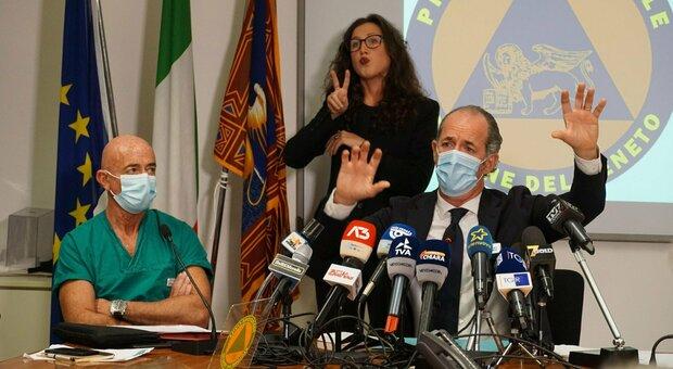 Covid, in Veneto oggi 2.956 contagi e 31 morti. Luca Zaia: «Bene il dato terapie intensive»