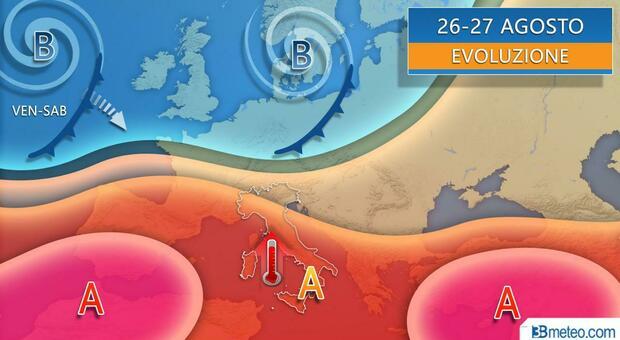 Meteo, domani ancora temporali poi tornano alta pressione e caldo: ma non durerà