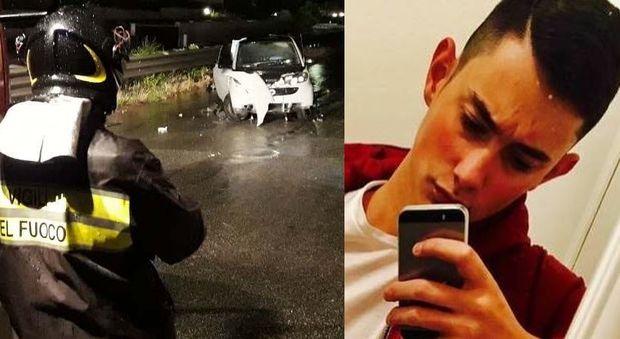 Roma, auto contro un muro in via Tuscolana: morto ragazzo di 20 anni, grave 19enne