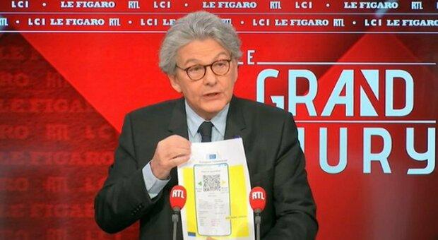 Passaporto sanitario Ue il 15 giugno (ma non obbligatorio). Breton: «Immunità di gregge a metà luglio»