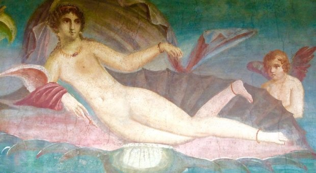 Venere in conchiglia a Pompei