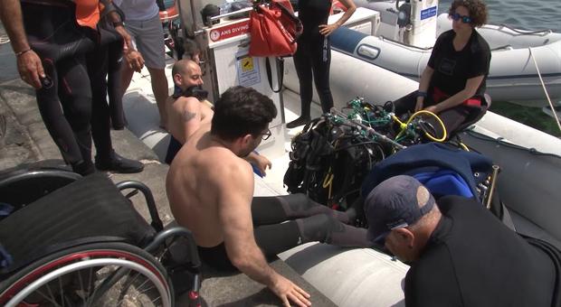 «In acqua non abbiamo barriere»: a Ischia le immersioni dei disabili