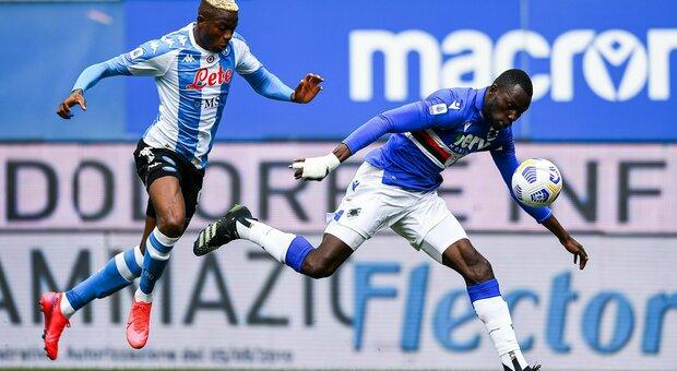 Fabian Ruiz e Osimhen, il Napoli batte la Samp a Marassi e si rimette a caccia della Champions