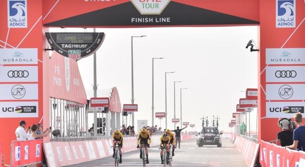 UAE Tour 2019, Gaviria batte Viviani