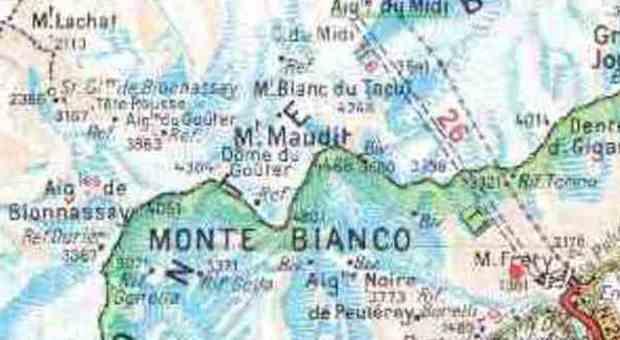Chamonix Cartina Geografica.Monte Bianco Blitz Della Francia Sul Ghiacciaio Lite Con L