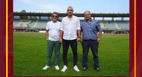 Mauro Ferretti, Alessandro Boccolini ed Enrico De Martino (foto pagina facebook Fc Rieti)
