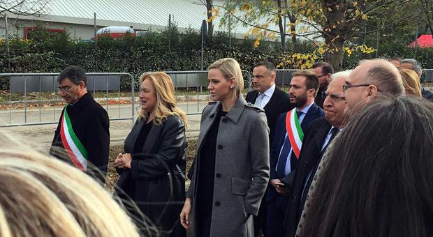 Charlene di Monaco arrivata a Isola del Gran Sasso. Paese blindato