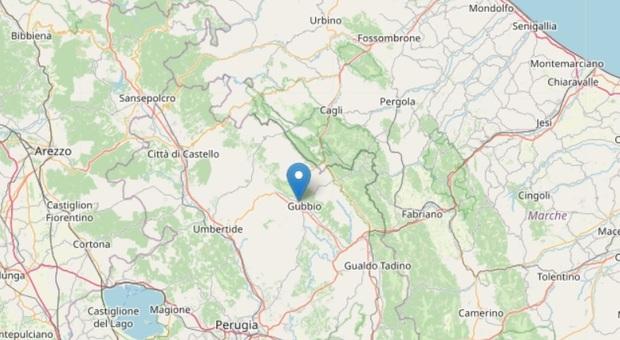 Terremoto in Umbria, Ingv: «Magnitudo 4.0». Epicentro a Gubbio