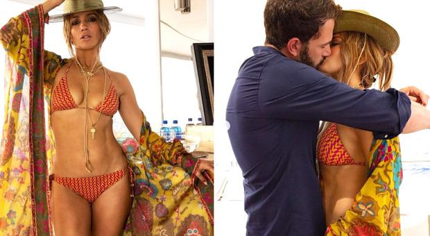 Jennifer Lopez, per i suoi 52 anni prima foto con Ben Affleck: passerella in barca e bikini mozzafiato