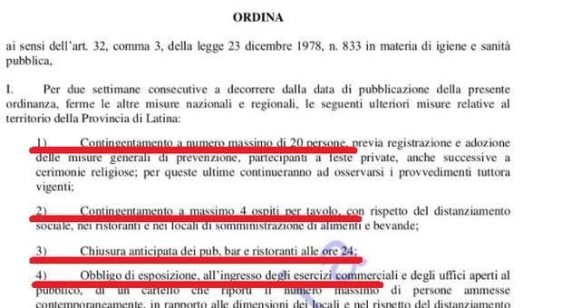 Covid, a Latina scattano le restrizioni: ecco l'ordinanza firmata da Zingaretti