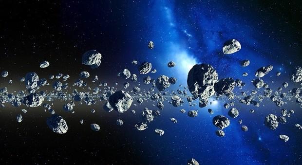 Asteroidi in una rappresentazione artistica
