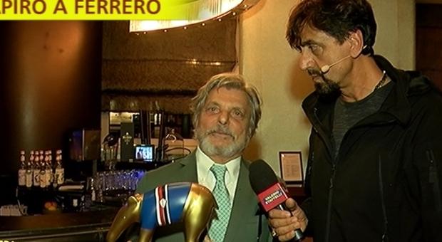 Sampdoria, Ferrero riceve il Tapiro: «Totti mi ha parlato di Ranieri»