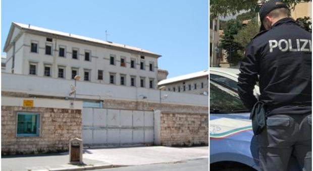 Detenuto evade dal carcere di Bari: ingoia una lametta, dà una testata a un poliziotto e poi la fuga