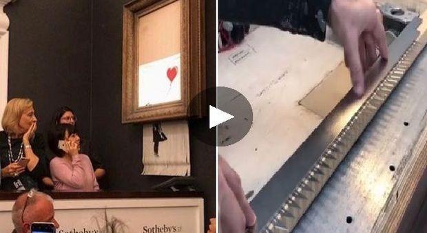 Bansky, il quadro appena venduto a 1 milione di sterline si autodistrugge