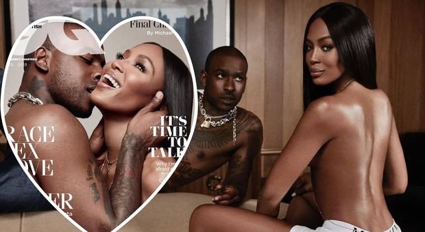 """Naomi Campbell in topless col suo toy boy: """"Dodici anni meno di lei"""""""